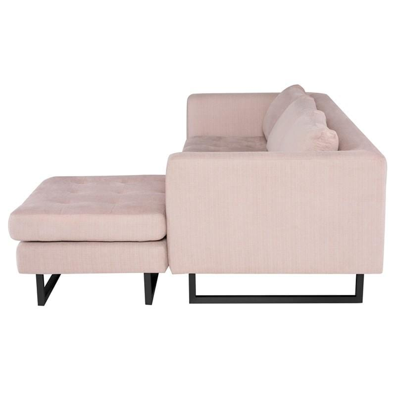 Nuevo Matthew Sectional Sofa - Mauve | Alchemy Fine Home