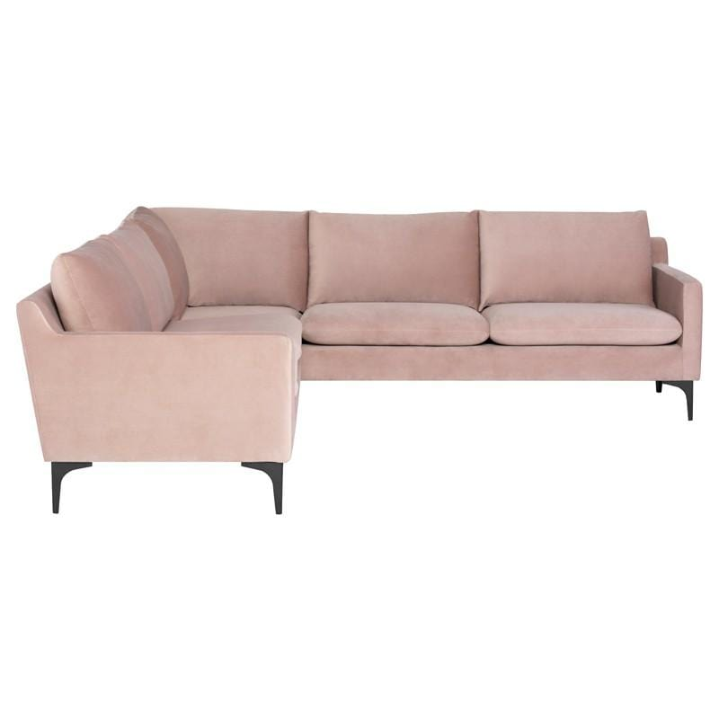 Nuevo Anders L Sectional Sofa - Blush | Alchemy Fine Home
