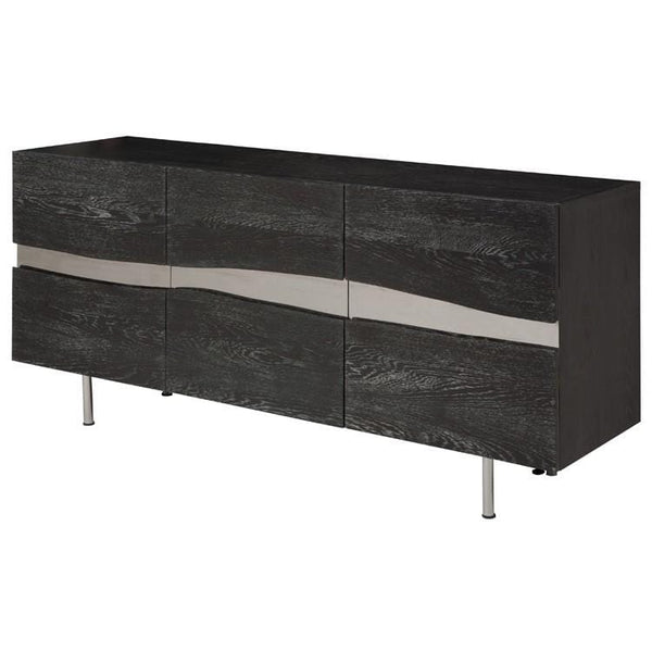 Nuevo Sorrento Sideboard Cabinet - Oxidized Grey | Alchemy Fine Home