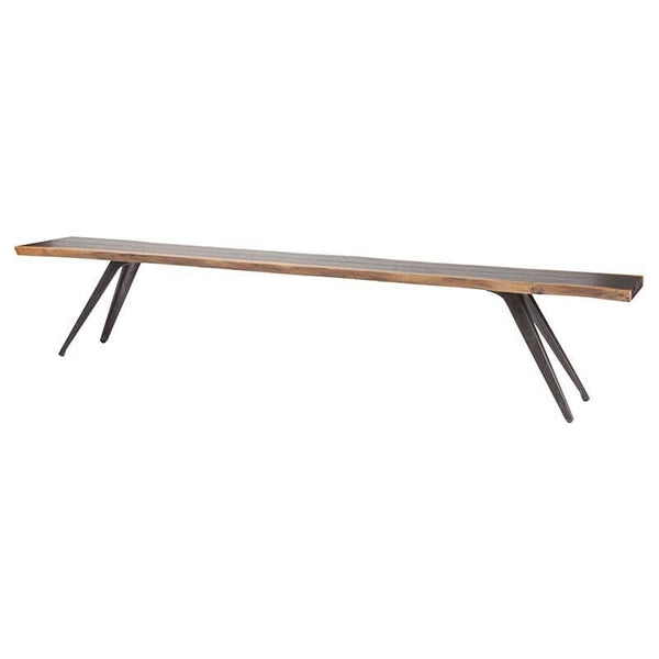 Nuevo Vega Dining Bench - Seared | Alchemy Fine Home