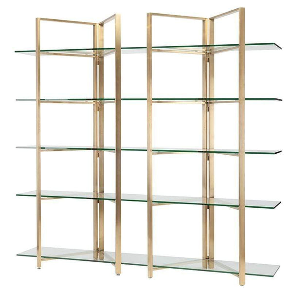 Nuevo Elton Display Shelving - Gold | Alchemy Fine Home