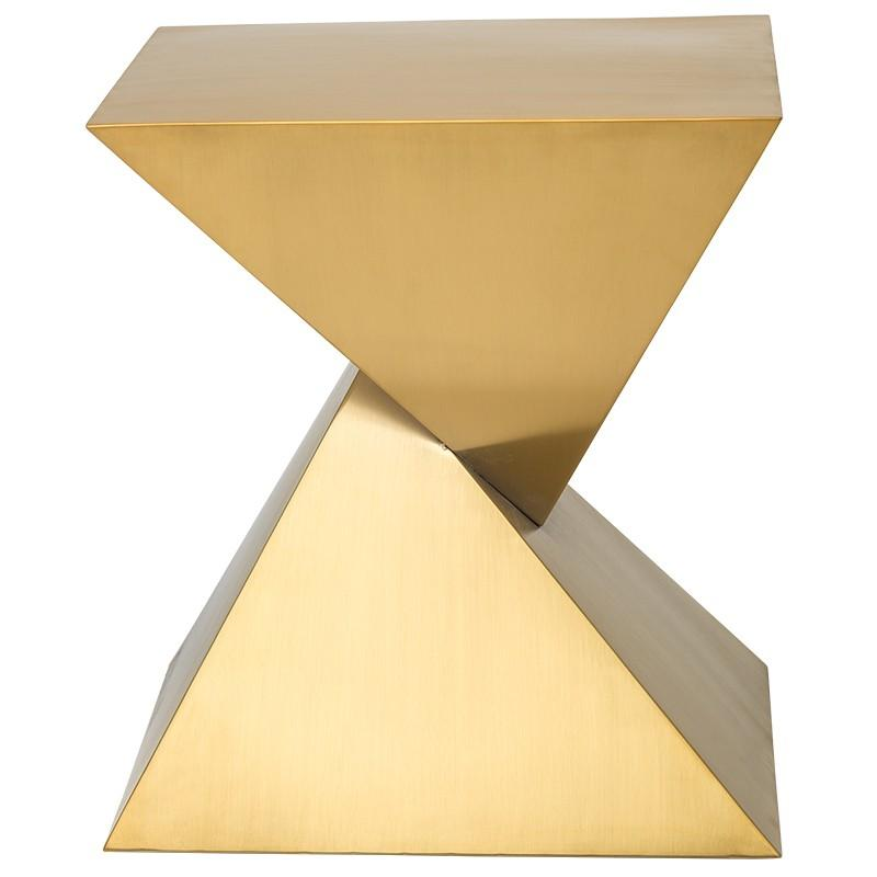 Nuevo Nuevo Giza Steel Side Table - Gold HGSX246