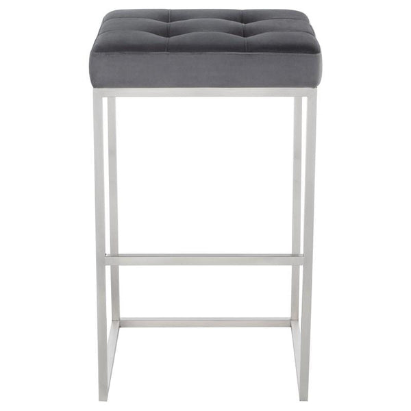Nuevo Chi Bar Stool - Tarnished Silver | Alchemy Fine Home
