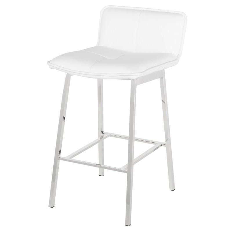 Nuevo Sabrina Counter Stool - White | Alchemy Fine Home