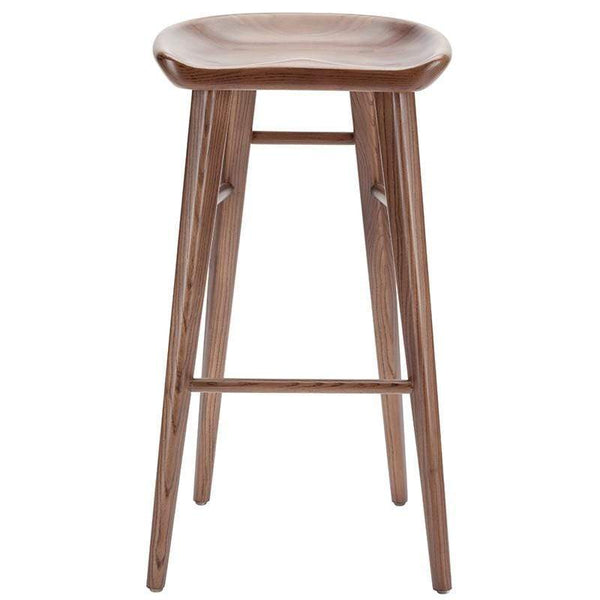 Nuevo Kami Bar Stool - Walnut | Alchemy Fine Home