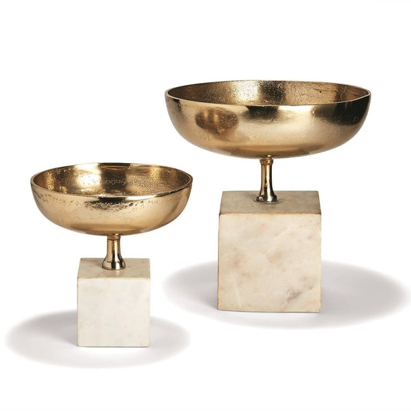 Tozai Home Set of 2 Chalice Bowl Sculpture | Alchemy Fine Home