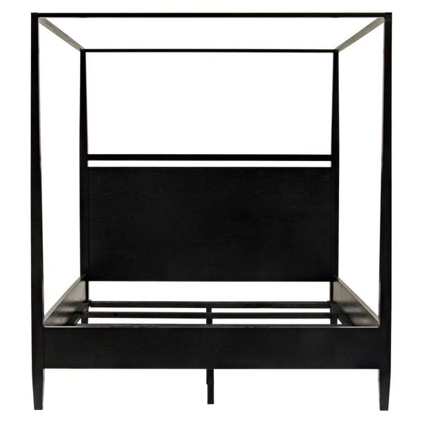 Noir Noir Modern 4-Poster Bed - King - Black HW005-EK-BS