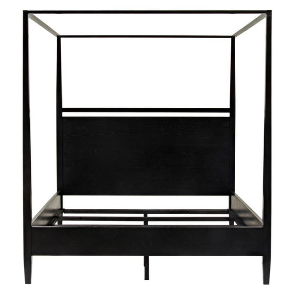 Noir Noir Modern 4-Poster Bed - Queen - Black HW005-Q-BS