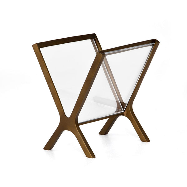 Four Hands Feldman Magazine Rack - Available in 2 Colors | Alchemy Fine Home