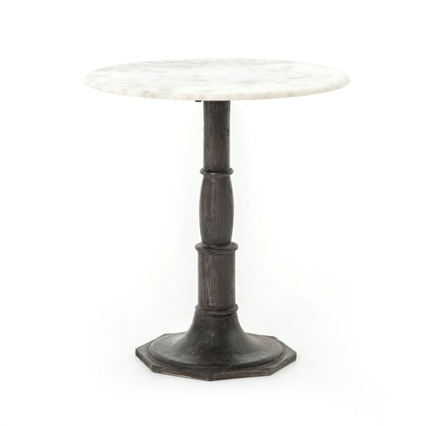 Four Hands Lucy Side Table - Carbon Wash, Marble Top | Alchemy Fine Home