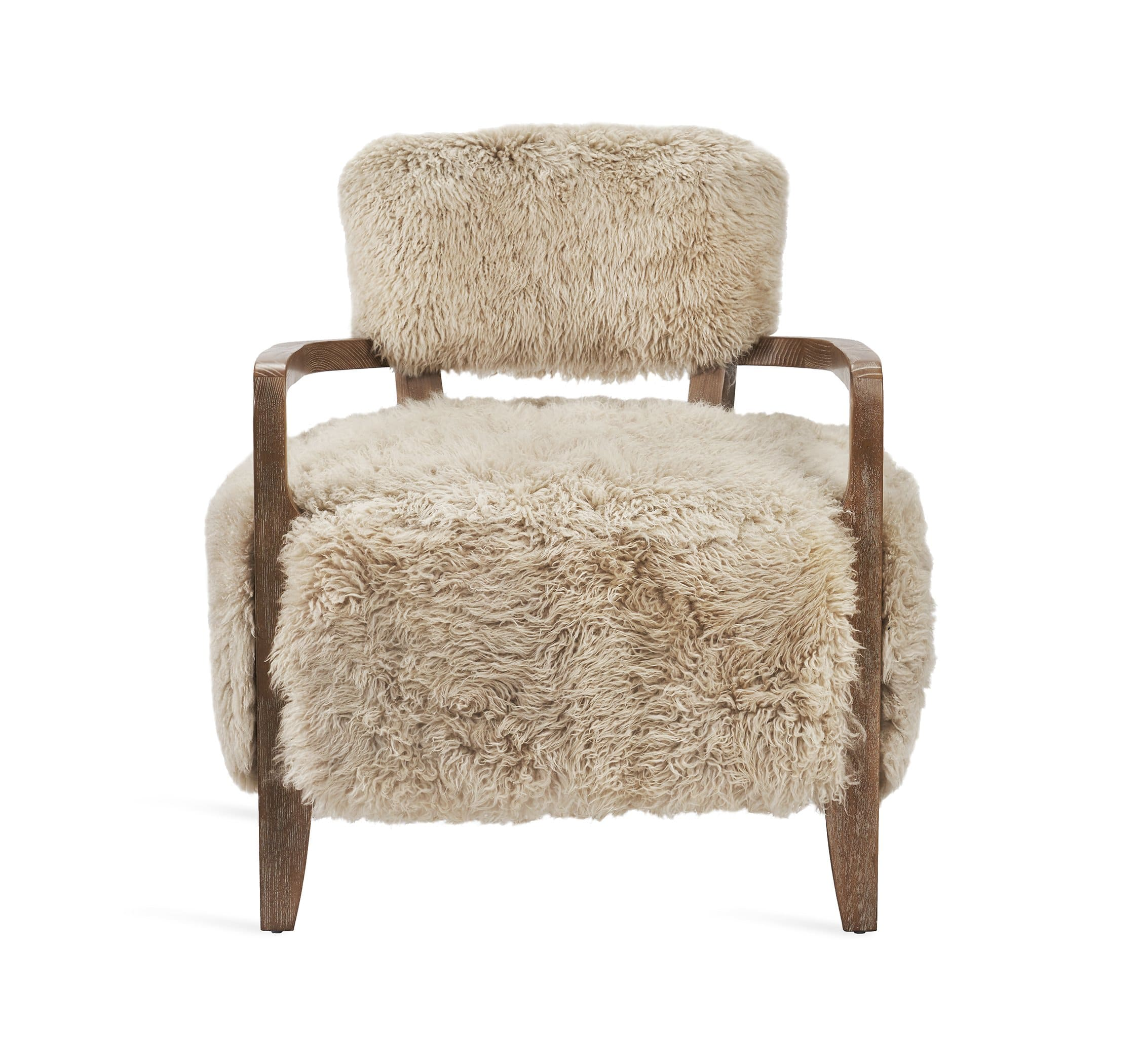 Interlude Home Royce Lounge Chair - Autumn Brown & Taupe