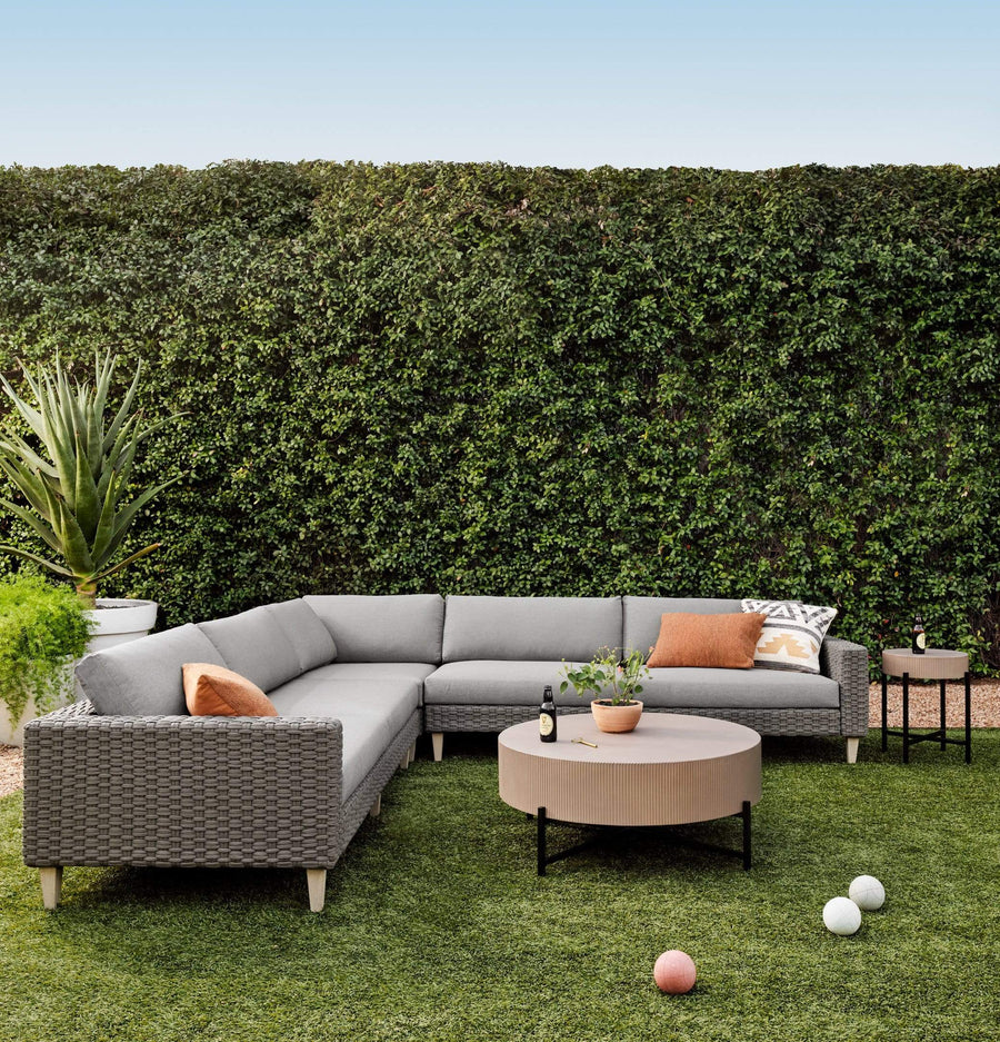 Four Hands Remi Outdoor 3 Piece Sectional - Available in 2 Colors | Alchemy Fine Home