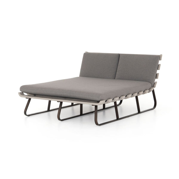 Four Hands Dimitri Outdoor Double Chaise - Available in 2 Colors | Alchemy Fine Home