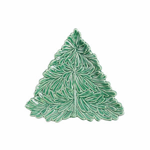 Vietri Vietri Lastra Holiday Figural Tree Small Plate LAH-2601T-GB