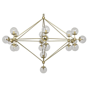 Noir Pluto Large Gold Chandelier