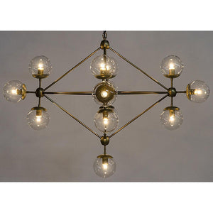 Noir Pluto Small Gold Chandelier