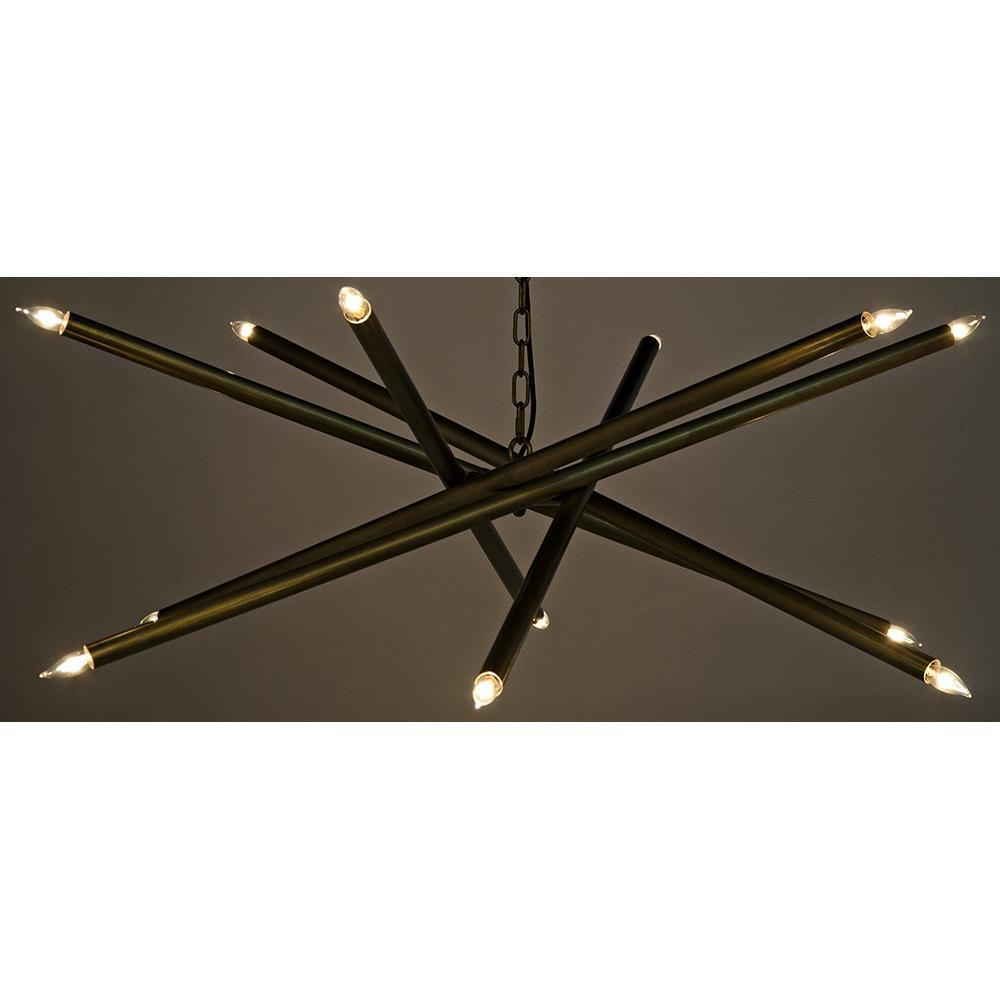 Noir Noir Ikram Gold Chandelier LAMP609MB