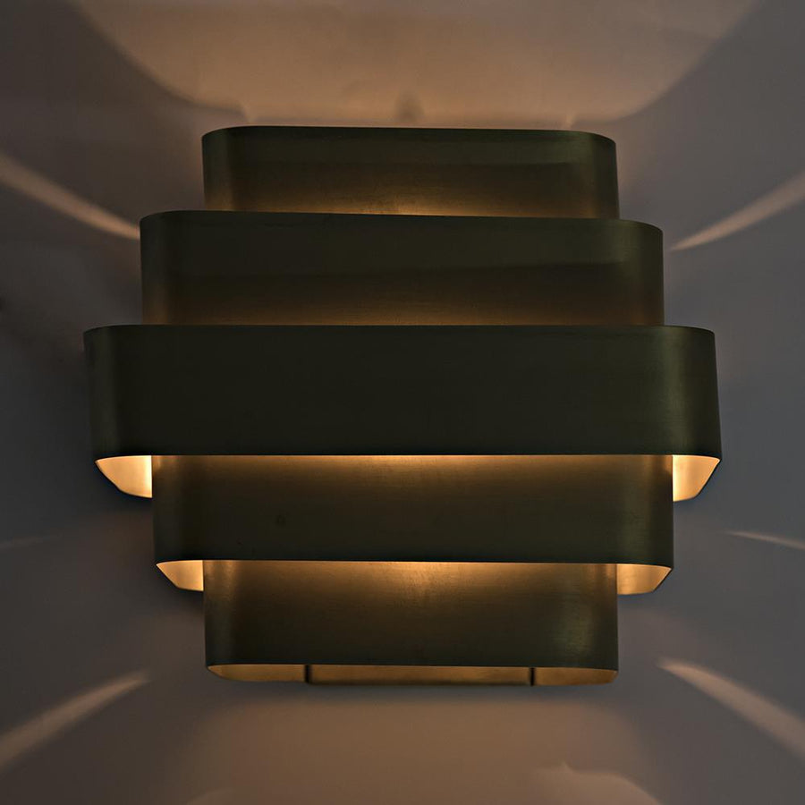Noir Baas Gold Sconce