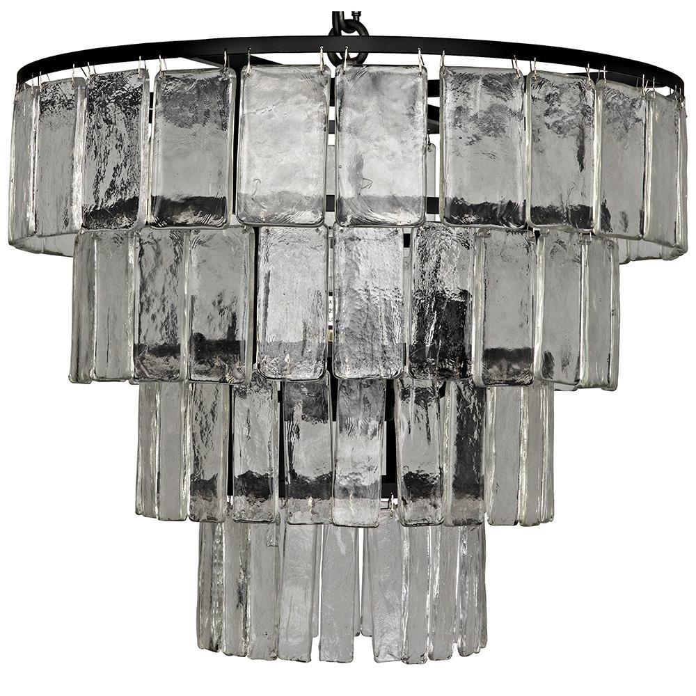Noir Noir Carnegie Medium Black Metal Chandelier LAMP684M