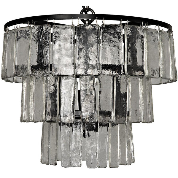 Noir Carnegie Small Black Metal Chandelier