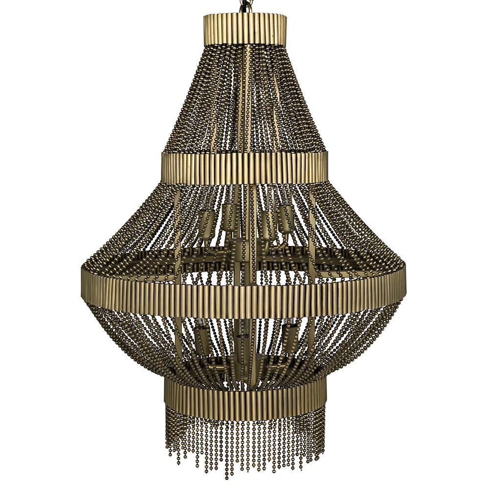 Image of Noir Domo Gold Chandelier