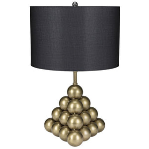 Noir Lea Gold Table Lamp with Shade