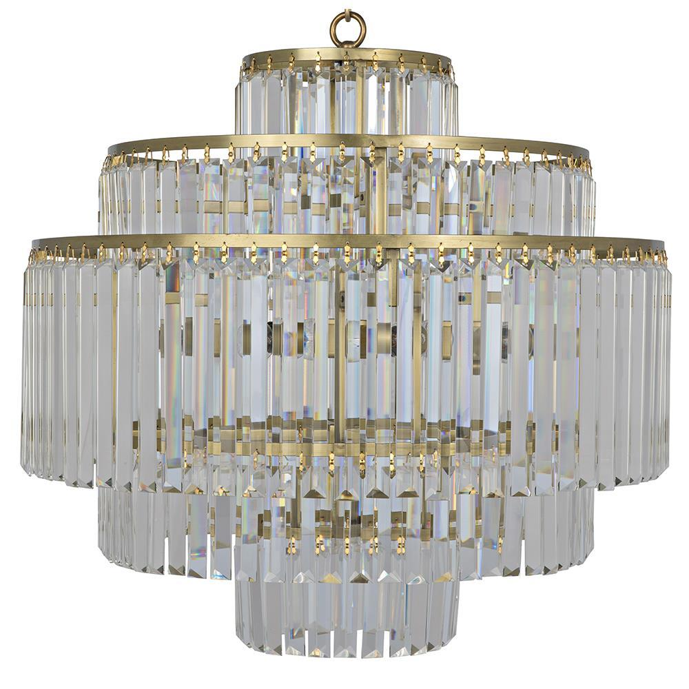 Image of Noir Quintus Gold Chandelier