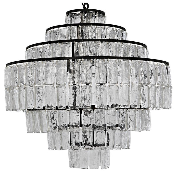 Noir Satellite Black Metal Chandelier