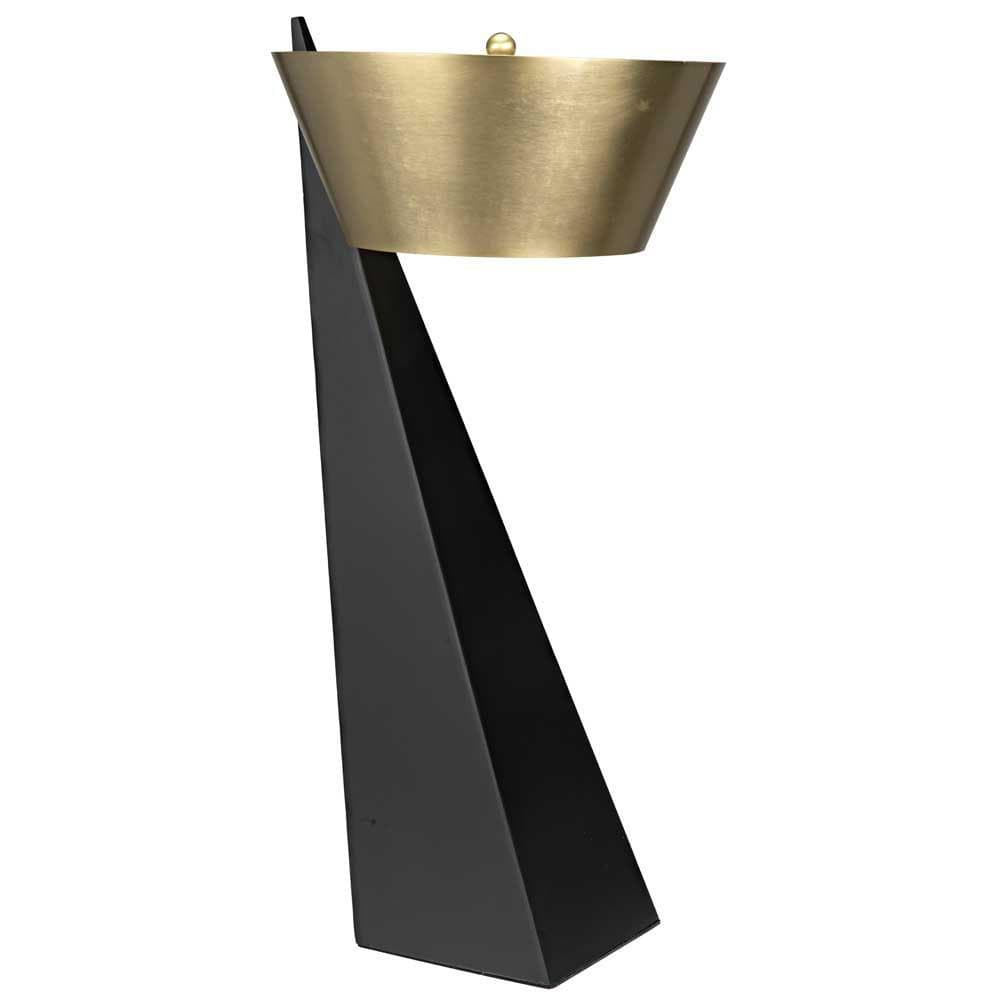 Noir Noir Claudius Gold Table Lamp LAMP747MB