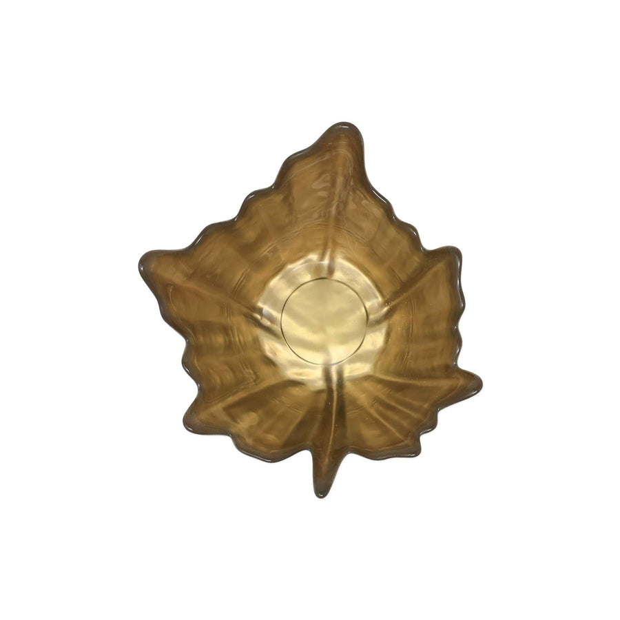 Vietri Vietri Leaf Glass Bronze Small Bowl LFG-B5207