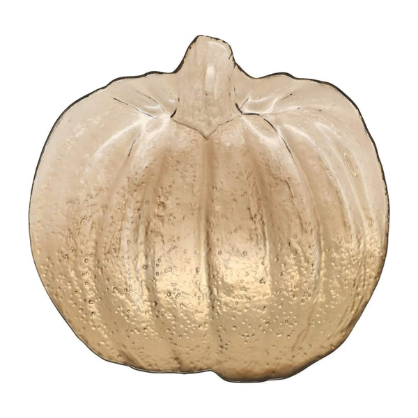 Leaf Glass Bronze Pumpkin Platter