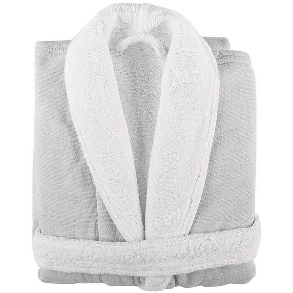 Graccioza Linen Duo Bathrobe - White | Alchemy Fine Home