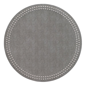 Bodrum Bodrum Pearls Placemat - Gray & Silver- Set of 4 LPR1133P4