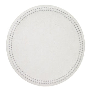 Bodrum Bodrum Pearls Placemat - Antique White & Silver - Set of 4 LPR8033P