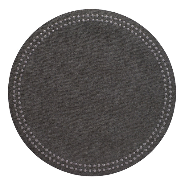 Bodrum Bodrum Pearls Placemat - Charcoal & Gunmetal - Set of 4 LPR8356P4
