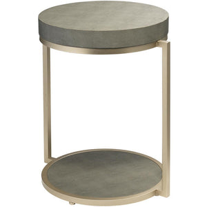Jamie Young Chester Round Gray Side Table