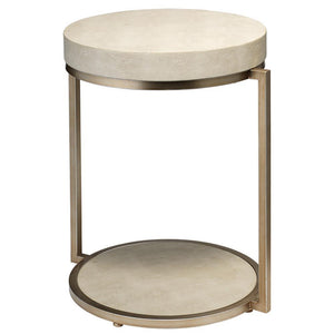 Jamie Young Chester Round Beige Side Table