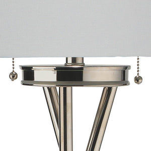 Jamie Young Manny Silver Floor Lamp