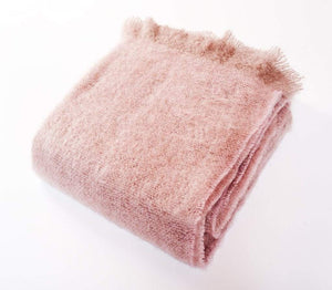 Harlow Henry Harlow Henry Luxe Mohair Throw - 6 Available Colors Soft Rose HHVCT04