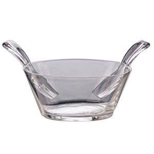 Mario Luca Giusti Mario Luca Giusti Acrylic Salad Bowl with Servers - Available in 6 Colors Clear M1090022