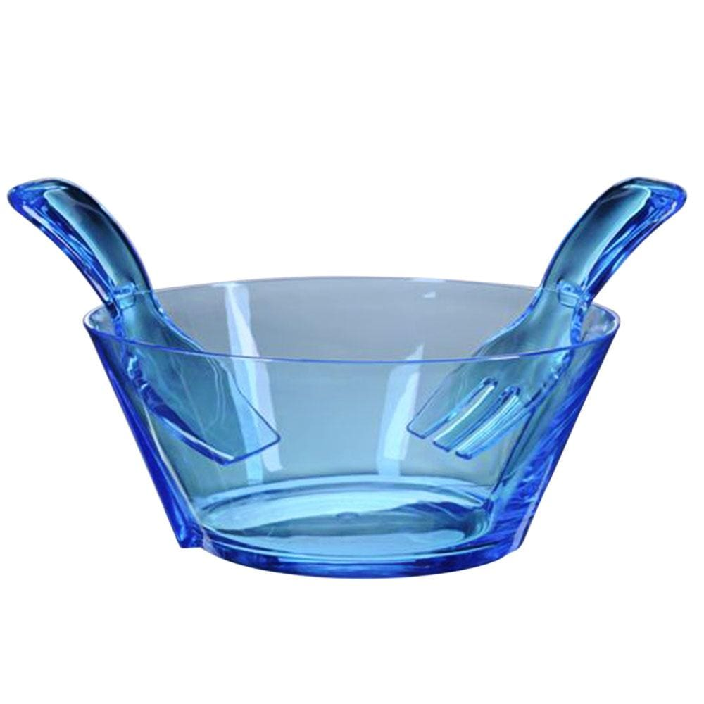 Mario Luca Giusti Mario Luca Giusti Acrylic Salad Bowl with Servers - Available in 6 Colors Aqua M1090822