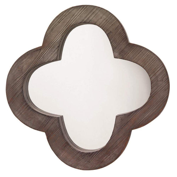 Jamie Young Clover Mirror in Gray Washed Wood
