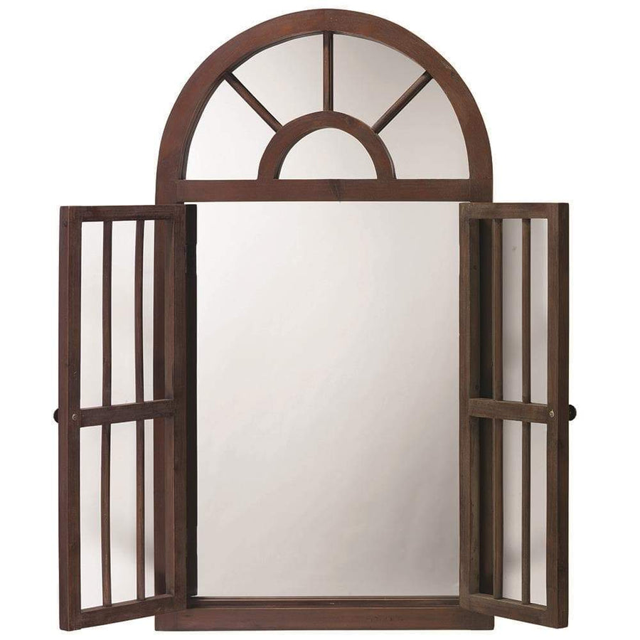 Jamie Young Craftsman Mirror in Antique Brown Wood