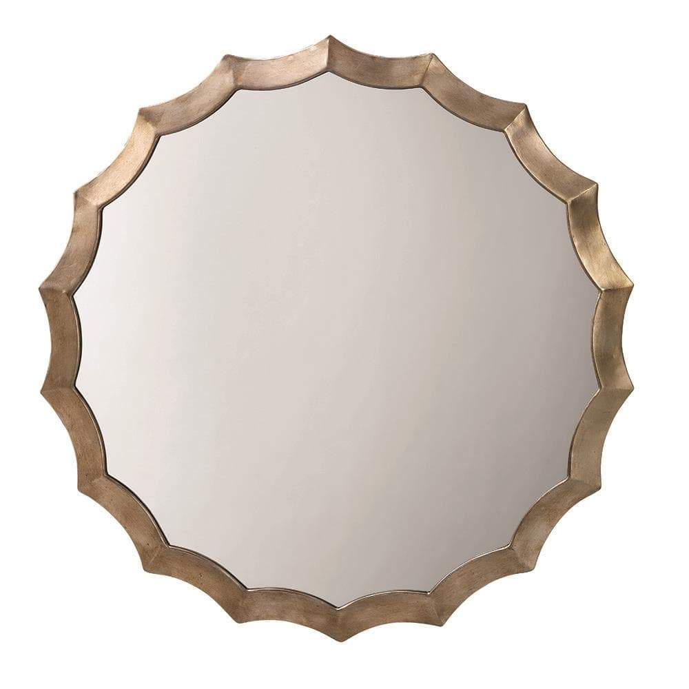 Image of Jamie Young Round Scalloped Mirror