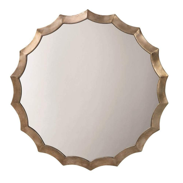 Jamie Young Round Scalloped Mirror