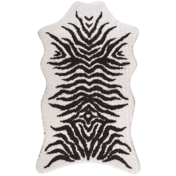 Graccioza Mountain Zebra Bath Rug - White | Alchemy Fine Home