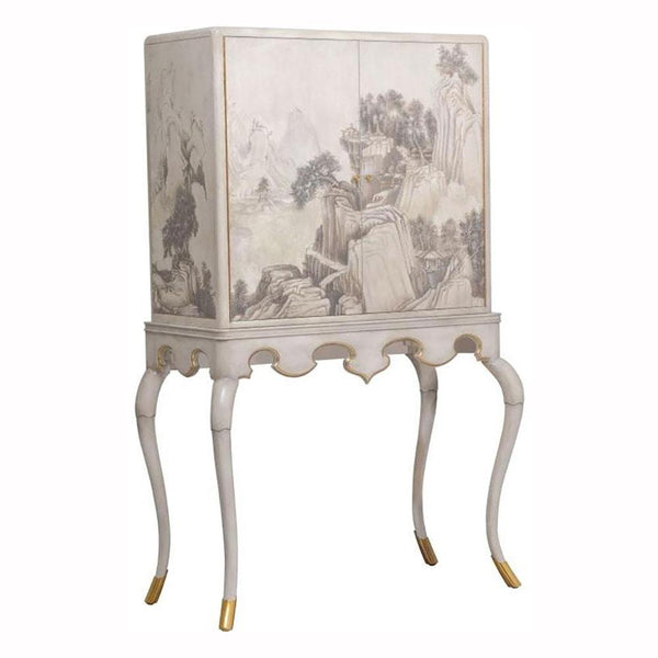 Maitland Smith Lacca Veneziana Bar Cabinet