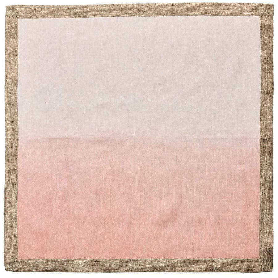Dip Dye Napkin in Blush & Gold - Set of 4 by Kim Seybert | Alchemy Fine Home
