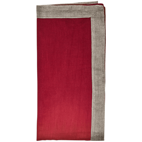 Kim Seybert Dip Dye Napkins in Cranberry & Orange | Alchemy Fine Home