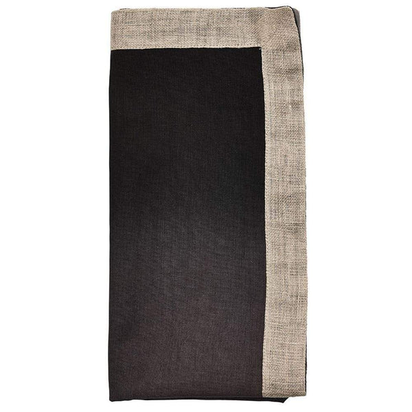 Kim Seybert Dip Dye Napkin in Gray and Black - Set of 4